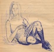 20 SB Girl in socks, smoking